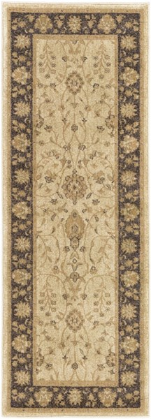 Arabesque Beige Olive Charcoal Polypropylene Runner (L 87 X W 71) ABS3038-2773