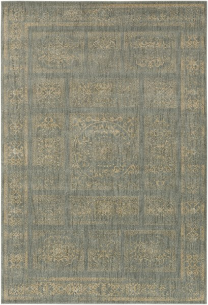 Arabesque Charcoal Beige Olive Polypropylene Area Rug (L 87 X W 63) ABS3044-5373