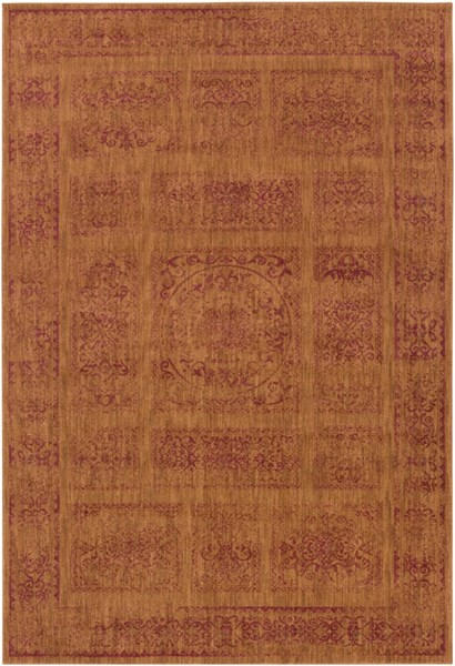 Arabesque Rust Burgundy Mocha Polypropylene Area Rug (L 87 X W 63) ABS3045-5373