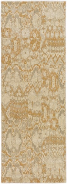 Arabesque Gold Beige Olive Polypropylene Runner (L 87 X W 31) ABS3051-2773