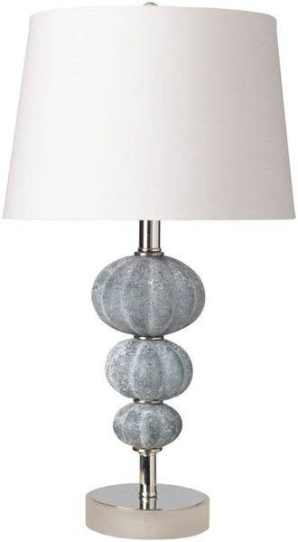 Surya Abbey Ivory Pale Blue Glass Table Lamp - 13x23 ABY-100
