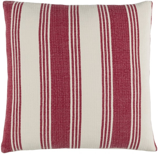 Anchor Bay Burgundy Ivory Poly Cotton Throw Pillow (L 20 X W 20 X H 5) ACB002-2020P