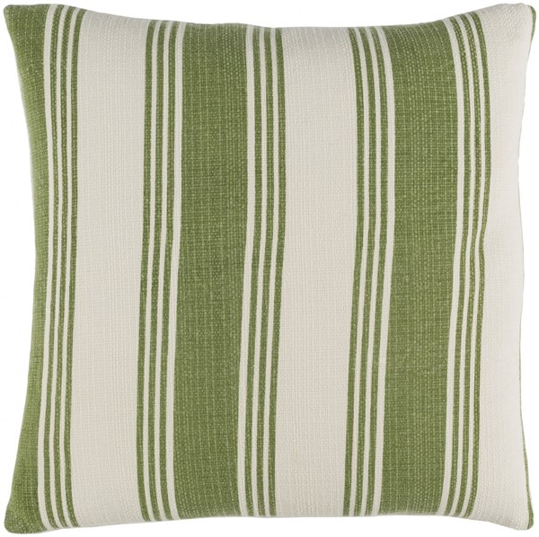 Anchor Bay Olive Ivory Poly Cotton Throw Pillow (L 22 X W 22 X H 5) ACB003-2222P
