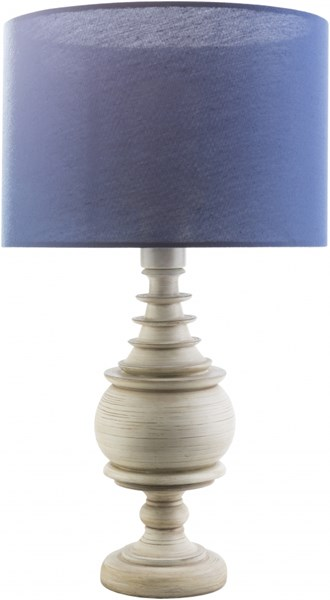 Acacia Contemporary Antique White Navy Resin Polyester Table Lamp ACC560-TBL
