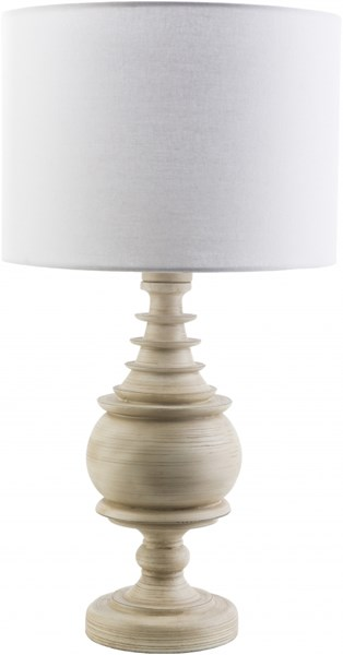 Acacia Contemporary Antique White Resin Polyester Table Lamp ACC562-TBL