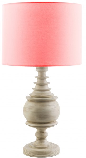 Acacia Contemporary Antique White Red Resin Polyester Table Lamp ACC563-TBL