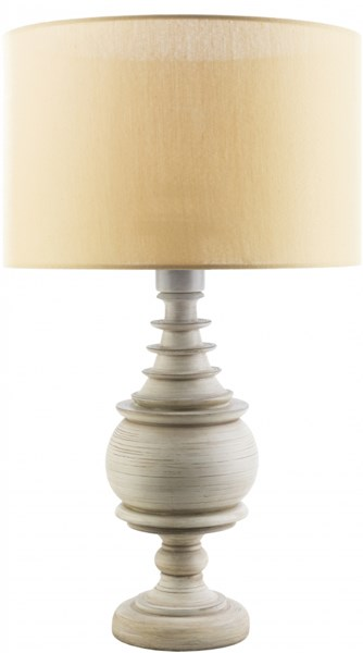 Acacia Contemporary Antique White Yellow Resin Polyester Table Lamp ACC565-TBL
