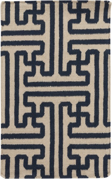 Archive Navy Olive Wool Area Rug - 24 x 36 ACH1700-23