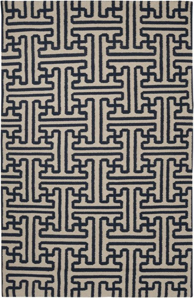 Archive Navy Olive Wool Area Rug (L 96 X W 60) ACH1700-58