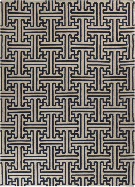 Archive Navy Olive Wool Area Rug (L 132 X W 96) ACH1700-811