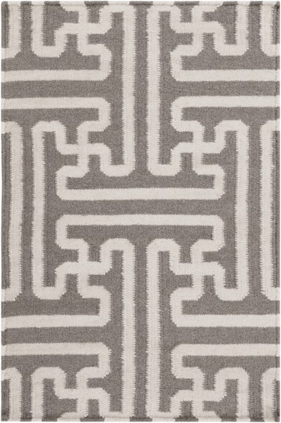 Archive Taupe Ivory Wool Area Rug - 24 x 36 ACH1702-23