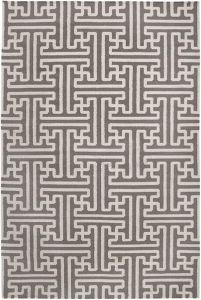 Archive Taupe Ivory Wool Area Rug - 60 x 96 ACH1702-58