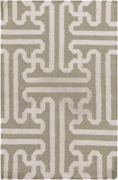 Archive Taupe Beige Wool Area Rug - 24 x 36 ACH1705-23