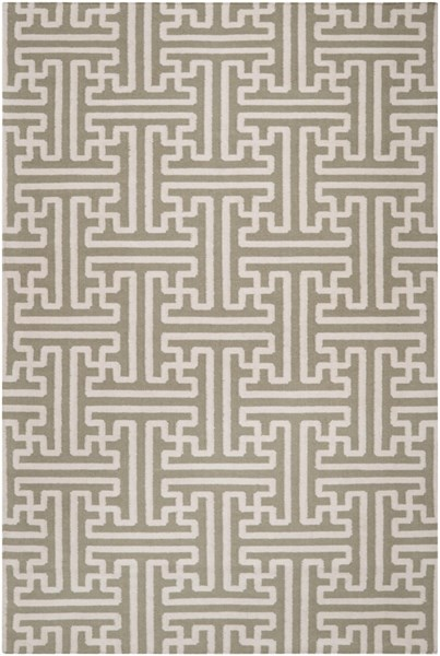 Archive Taupe Beige Wool Area Rug - 60 x 96 ACH1705-58