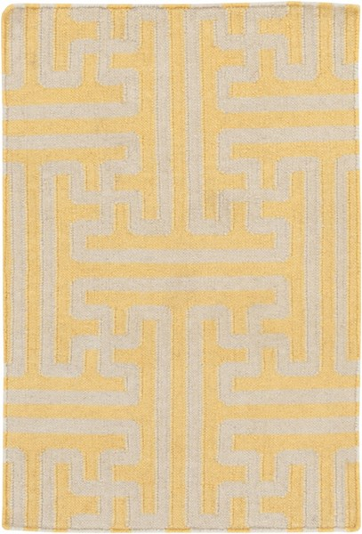 Archive Gold Beige Wool Area Rug - 24 x 36 ACH1707-23