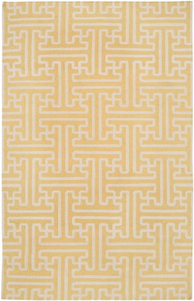Archive Gold Beige Wool Area Rug - 60 x 96 ACH1707-58