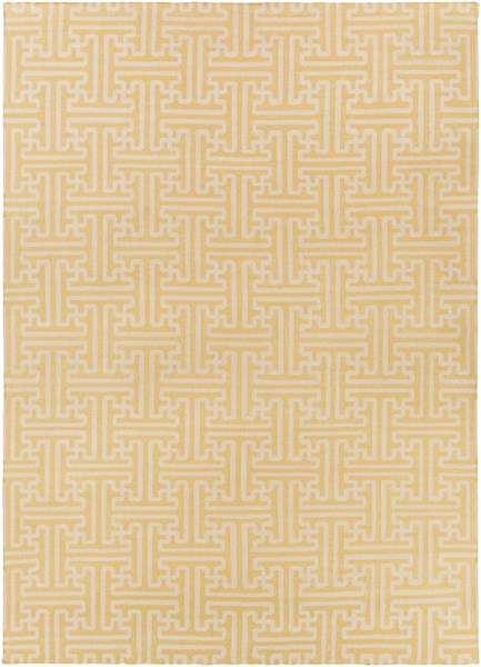 Archive Gold Beige Wool Area Rug - 108 x 156 ACH1707-913