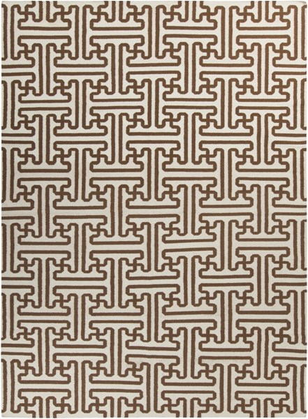 Archive Beige Chocolate Wool Area Rug - 96 x 132 ACH1709-811