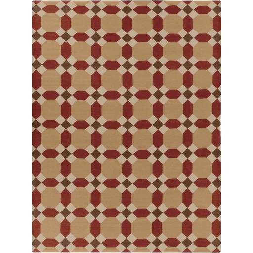 Archive Flat Pile Brown Mocha Fabric Rectangle Rug ACH1715-811