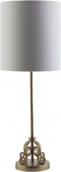 Ackerman Painted Gold Tint Metal Linen Table Lamp - 10x28 ACK742-TBL
