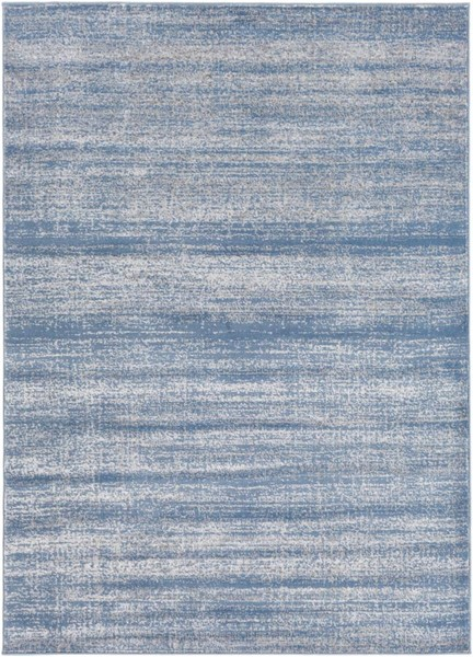 Surya Amadeo Bright Blue Medium Gray Polypropylene Area Rug - 122x94 ADO1005-710102