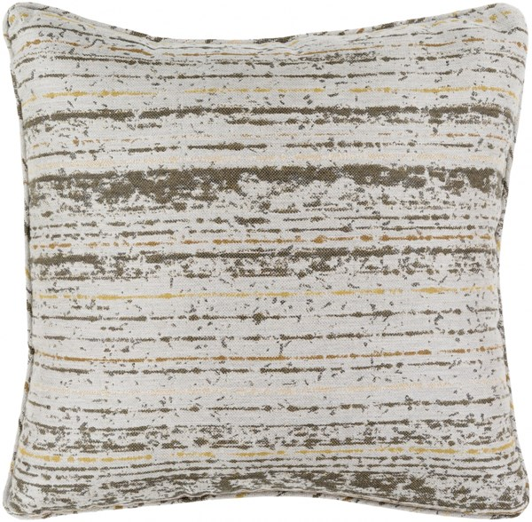 Arie Pillow in Olive and Light Gray - 20 x 20 x 5 AE001-2020