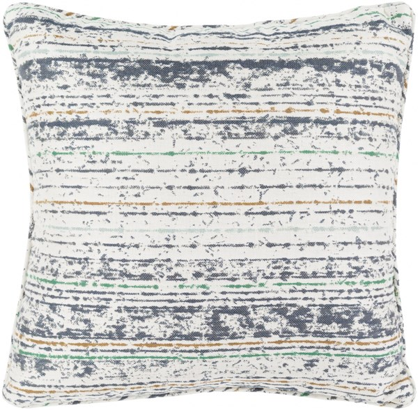 Arie Gray Moss Gray Ivory Beige Acrylic Throw Pillow - 16x16x4 AE003-1616