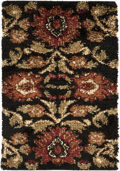 Alfredo Contemporary Black Beige Chocolate Polypropylene Area Rugs 596-VAR1
