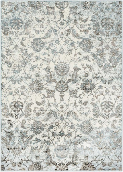Surya Agra Taupe Medium Gray White Black Polypropylene Area Rug - 87x63 AGR2302-5373
