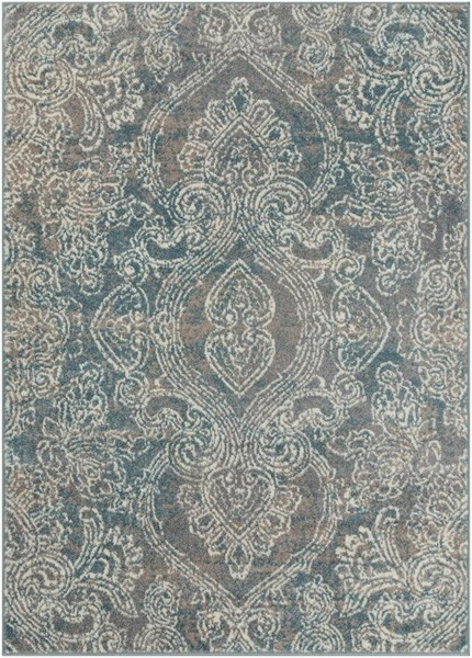 Surya Agra Medium Gray Taupe White Polypropylene Area Rug - 87x63 AGR2309-5373