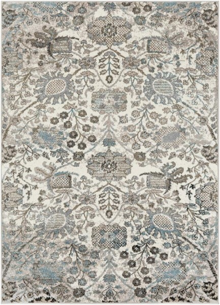 Surya Agra Traditional Medium Gray White Taupe Polypropylene Area Rug - 36x24 AGR2312-23