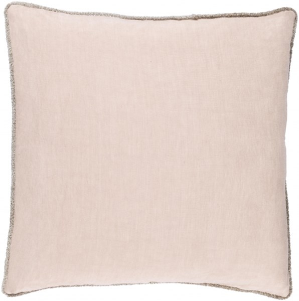 Sasha Taupe Fabric Removable Cover Throw Pillow (L 18 X W 18 X H 4) AH002-1818P