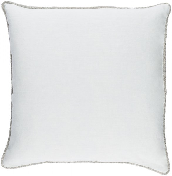 Sasha Light Blue Fabric Square Throw Pillow (L 18 X W 18 X H 4) AH004-1818P