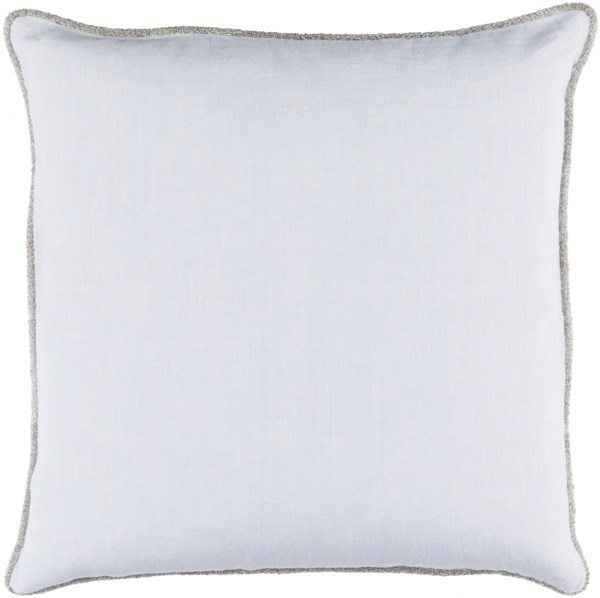 Sasha Sky Blue Fabric Poly Feel Throw Pillow (L 18 X W 18 X H 4) AH005-1818P