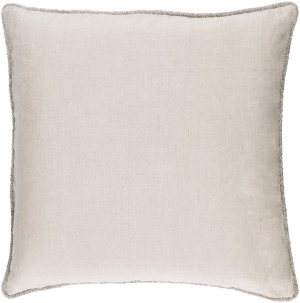 Sasha Ivory Fabric Removable Cover Throw Pillow (L 18 X W 18 X H 4) AH006-1818P