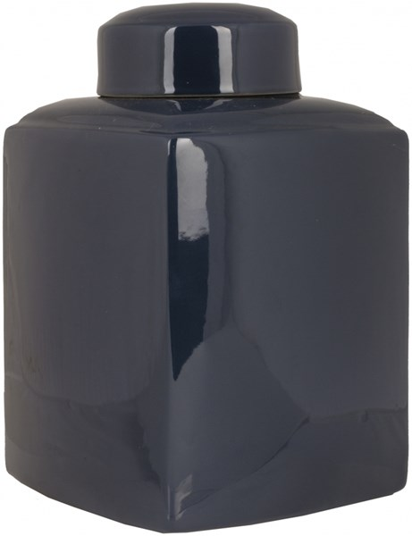 Aegean Modern Cobalt Ceramic Medium Square Jar AHJ900-M