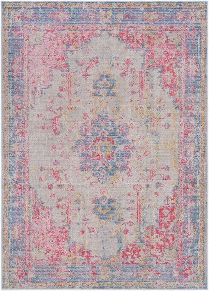 Surya Antioch Violet Bright Pink Gray Lavender Polyester Area Rug - 36x24 AIC2306-23