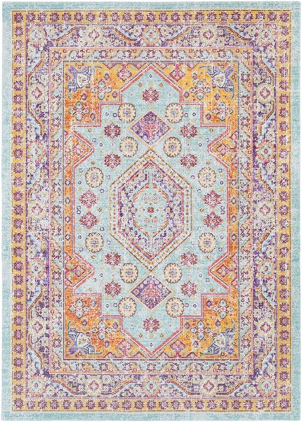 Surya Antioch Lavender Bright Yellow Purple Polyester Area Rug - 36x24 AIC2321-23