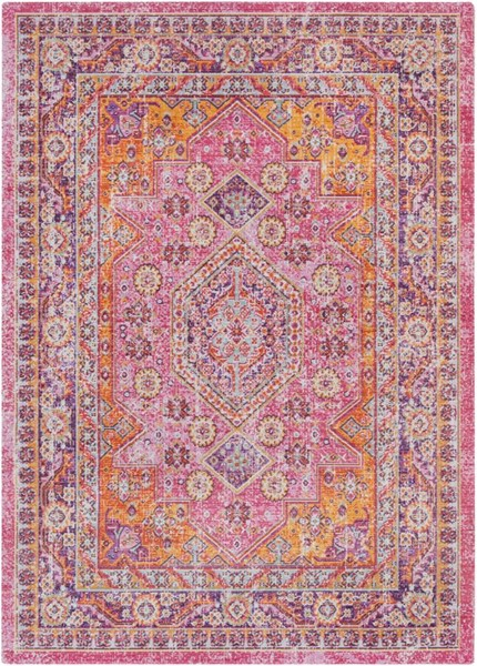 Surya Antioch Bright Pink Purple Yellow Garnet Polyester Area Rug 71x47 The Classy Home