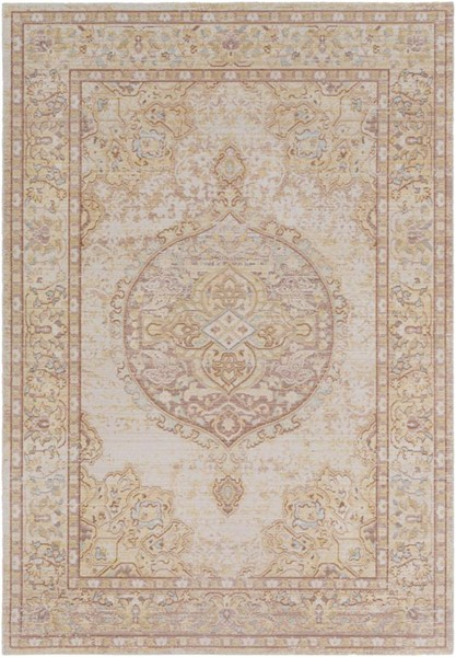 Surya Antioch Camel Bright Yellow White Gray Polyester Area Rug - 71x47 AIC2323-311511