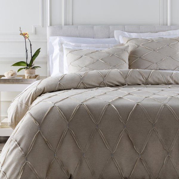 Aiken Contemporary Natural Slate Cotton Duvets AIKEN-DUVET-VAR