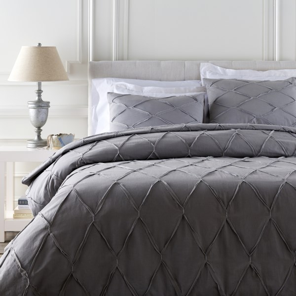 Aiken Contemporary Slate Cotton Twin Duvet (L 86 X W 68) AIK9001-T