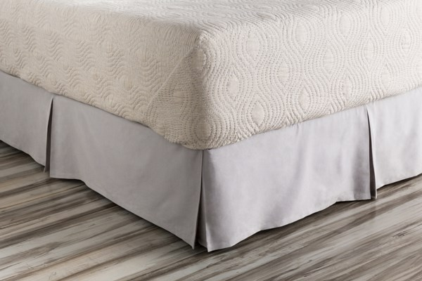 Aiken Contemporary Slate Cotton Twin Bed Skirt (L 76 X W 39 X H 15) AIK9001-TSKT