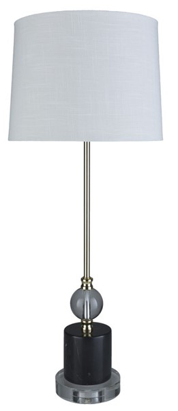 Surya Aimes White Crystal Table Lamp - 12x30.50 AIM-001