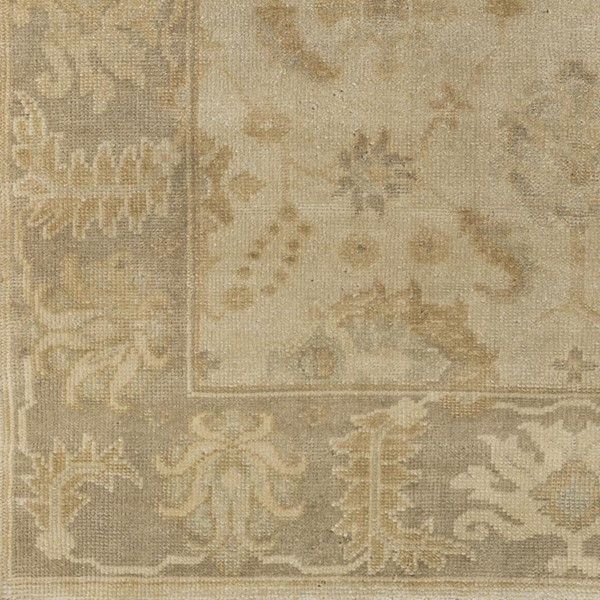 Surya Ainsley Beige Wheat Khaki NZ Wool Area Rug - 18x18 AIN1017-1616