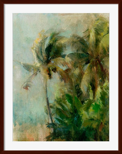 Surya Eternal Paper Little Misty Palms II Wall Art - 18x21 AK164A001-1821