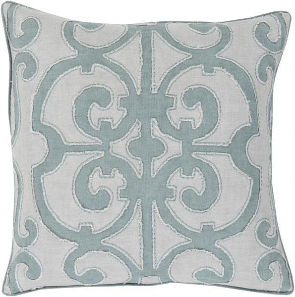 Amelia Slate Light Gray Linen Down Throw Pillow - 20x20x5 AL003-2020D