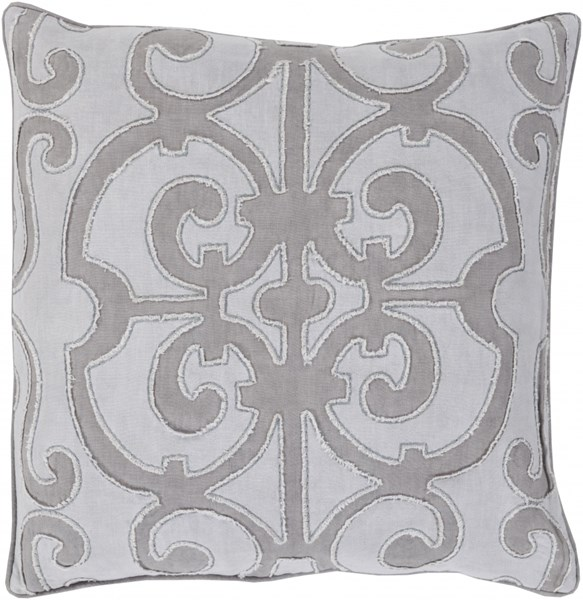 Amelia Gray Light Gray Linen Down Throw Pillow - 20x20x5 AL004-2020D
