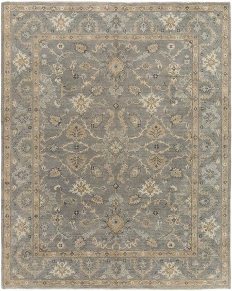 Surya Alanya Medium Gray Cream Taupe Wool Area Rug - 36x24 ALA2504-23