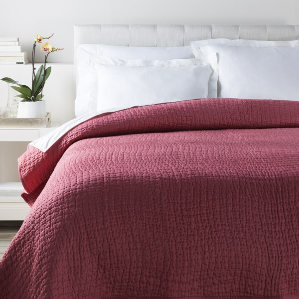 Albany Raspberry Cotton Silk King Quilt - 92x108 ALB2000-K